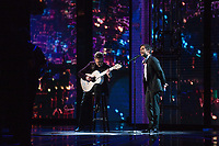 Gael Garcia Bernal (right) and guitarist perform &quot;Remember Me&quot; from &quot;Coco&quot; during the live ABC Telecast of The 90th Oscars&reg; at the Dolby&reg; Theatre in Hollywood, CA on Sunday, March 4, 2018.<br /> *Editorial Use Only*<br /> CAP/PLF/AMPAS<br /> Supplied by Capital Pictures