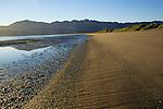 Beach and desert mountains, Bahia de los Angeles, Baja California, Mexico