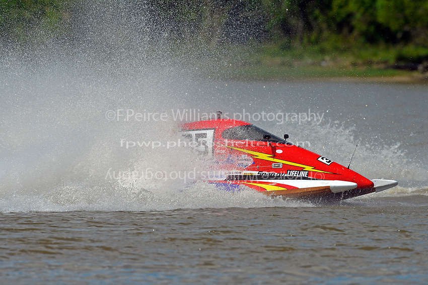 Frame 14: Chris Hughes, (#17) and Mark Schmerbach, (#35) come together in the first turn.    (SST-45 class)
