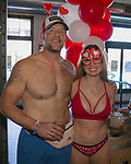 Eric and Morgan during the Cupid's Undie Run to benefit Neurofibromatosis in Reno, Nev., Saturday, Feb. 8, 2020.