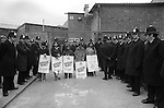 Willisden, London. 1977<br /> The Grunwick film processing plant dispute was over the sacking of 100 mainly south Asian women workers who joined a union. The strike became a cause celebre involving thousands of demonstrators, over 500 arrests were made during two years of often violent clashes.<br /> <br /> Johnny Patel ( left) if you know the names of the other strikers on the picket line please let me know.
