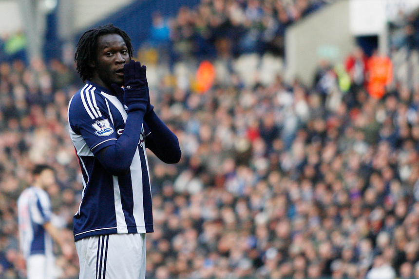 West Bromwich Albion's Romelu Lukaku .. - Credit - CameraSport - Jack Phillips - .Football - Barclays Premiership - West Bromwich Albion v Sunderland - Saturday 23rd February 2013 - The Hawthorns - West Bromwich..© CameraSport - 43 Linden Ave. Countesthorpe. Leicester. England. LE8 5PG - Tel: +44 (0) 116 277 4147 - admin@camerasport.com - www.camerasport.com