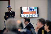 Roma,9 Dicembre 2015<br /> Aula bunker di Rebibbia.<br /> Il perito Gianluigi D'Ambrosio.<br /> Nuova udienza del processo Mafia Capitale, in Aula la discussione sulle perizie riguardo le intercettazioni.