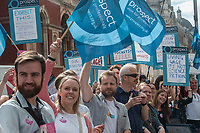 Members of the PROSPECT Trade Union go on strike at the Science Museum in London over pay. 30-8-19