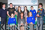 CEREMONY: The students of Castleisland Community College at the Kerry Education Student Awards at IT Tralee on Friday seated l-r: Maire O'Connell, Anne O'Sullivan (principal) and Kate Dennehy. Back l-r: Maurice Lynch, Aidan Kelly, Michelle O'Sullivan (guest speaker), Megan Browne, Hugh McSweeney and Sean Daly..