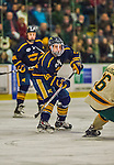 29 December 2013:  Canisius College Golden Griffins forward Shane Conacher, a Freshman from Burlington, Ontario, in first period action against the University of Vermont Catamounts at Gutterson Fieldhouse in Burlington, Vermont. The Catamounts defeated the Golden Griffins 6-2 in the 2013 Sheraton/TD Bank Catamount Cup NCAA Hockey Tournament. Mandatory Credit: Ed Wolfstein Photo *** RAW (NEF) Image File Available ***