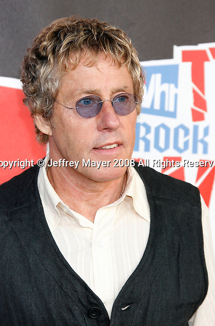 Musician Roger Daltrey of The Who arrives at the 2008 VH1 Rock Honors: The Who at Pauley Pavilion on the UCLA Campus on July 12, 2008 in Westwood, California. California.
