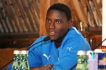 Leogang &Ouml;sterreich 29.07.2010, 1.Fu&szlig;ball Bundesliga Testspiel, TSG 1899 Hoffenheim Pressekonferenz, Hoffenheims Peniel Mlapa bei der Pressekonferenz<br /> <br /> Foto &copy; Rhein-Neckar-Picture *** Foto ist honorarpflichtig! *** Auf Anfrage in h&ouml;herer Qualit&auml;t/Aufl&ouml;sung. Belegexemplar erbeten. Ver&ouml;ffentlichung ausschliesslich f&uuml;r journalistisch-publizistische Zwecke.