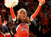 Virginia cheerleader during the game Jan. 22, 2015, in Charlottesville, Va. Virginia defeated Georgia Tech 57-28.