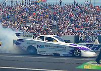 Jun 7, 2015; Englishtown, NJ, USA; NHRA funny car driver Tony Pedregon during the Summernationals at Old Bridge Township Raceway Park. Mandatory Credit: Mark J. Rebilas-