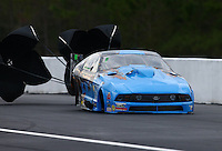 Mar 18, 2016; Gainesville, FL, USA; NHRA pro mod driver Kevin Fiscus during qualifying for the Gatornationals at Auto Plus Raceway at Gainesville. Mandatory Credit: Mark J. Rebilas-USA TODAY Sports