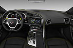Stock photo of straight dashboard view of 2018 Chevrolet Corvette Z06-3LZ 2 Door Convertible Dashboard