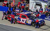 Apr 26, 2009; Talladega, AL, USA; NASCAR Sprint Cup Series driver Max Papis pits during the Aarons 499 at Talladega Superspeedway. Mandatory Credit: Mark J. Rebilas-