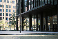 Mies van der Rohe: Seagram Building, New York. Partnered with Philip Johnson for this building, 1958.