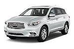 2014 Infiniti QX60 Hybrid 5 Door SUV Angular Front stock photos of front three quarter view