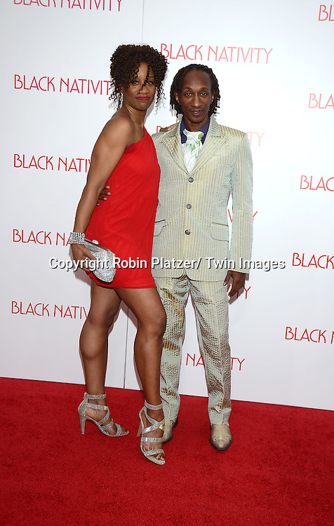 Judine Sommerville and Obadaya Wright attend the New York Premiere of &quot;Black Nativity&quot; on <br /> November 18, 2013 at the Apollo Theater in New York City.