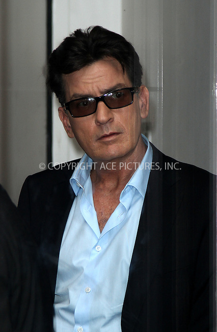 WWW.ACEPIXS.COM . . . . .  ....June 25 2012, New York City....Actor Charlie Sheen made an appearance at Good Morning America on June 25 2012 in New York City....Please byline: Zelig Shaul - ACE PICTURES.... *** ***..Ace Pictures, Inc:  ..Philip Vaughan (212) 243-8787 or (646) 769 0430..e-mail: info@acepixs.com..web: http://www.acepixs.com