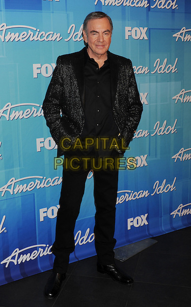 "Neil Diamond.Press room during ""American Idol Season 11 Grand Finale"" Show at Nokia Theatre L.A. Live in Los Angeles, California, USA..May 23rd, 2012 .full length black suit.CAP/ROT/TM.©Tony Michaels/Roth Stock/Capital Pictures"
