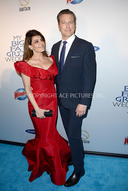 WWW.ACEPIXS.COM<br /> March 15, 2016 New York City<br /> <br /> Nia Vardalos and John Corbett attending the 'My Big Fat Greek Wedding 2' New York premiere at AMC Loews Lincoln Square 13 theater on March 15, 2016 in New York City.<br /> <br /> <br /> <br /> Credit: Kristin Callahan/ACE Pictures<br /> Tel: (646) 769 0430<br /> e-mail: info@acepixs.com<br /> web: http://www.acepixs.com