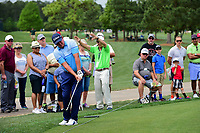 Jason Dufner (USA) chips on to 2 during round 3 of the Shell Houston Open, Golf Club of Houston, Houston, Texas, USA. 4/1/2017.<br /> Picture: Golffile | Ken Murray<br /> <br /> <br /> All photo usage must carry mandatory copyright credit (&copy; Golffile | Ken Murray)