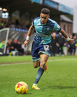 Paris Cowan-Hall of Wycombe Wanderers during the Sky Bet League 2 match between Wycombe Wanderers and Crawley Town at Adams Park, High Wycombe, England on 25 February 2017. Photo by Andy Rowland / PRiME Media Images.