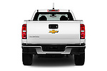 Straight rear view of 2016 Chevrolet Colorado 2WD wt Extended Cab 3 Door Pick-up Rear View  stock images