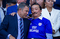 Cardiff chairman Mehmet Dahlman and owner Vincent Tan after the Sky Bet Championship match between Cardiff City and Reading at the Cardiff City Stadium, Cardiff, Wales on 6 May 2018. Photo by Mark  Hawkins / PRiME Media Images.
