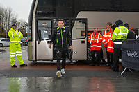 Connor Roberts of Swansea City arrives for the Sky Bet Championship match between Swansea City and Millwall at the Liberty Stadium in Swansea, Wales, UK. Saturday 23rd November 2019