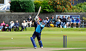 Scottish Saltires V Hampshire Royals, CB40 series, at Mannofield, Aberdeen - Scots batsman Gavin Hamilton, playing his final two matches for Scotland this weekend, hits out on his way to a modest, but hard-worked, 19 runs - Picture by Donald MacLeod 21.06.10 - mobile 07702 319 738 - words (if required) from William Dick 077707 83923