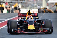 March 25, 2017: Max Verstappen (NDL) #33 from the Red Bull Racing team leaves the pits for the qualifying session at the 2017 Australian Formula One Grand Prix at Albert Park, Melbourne, Australia. Photo Sydney Low