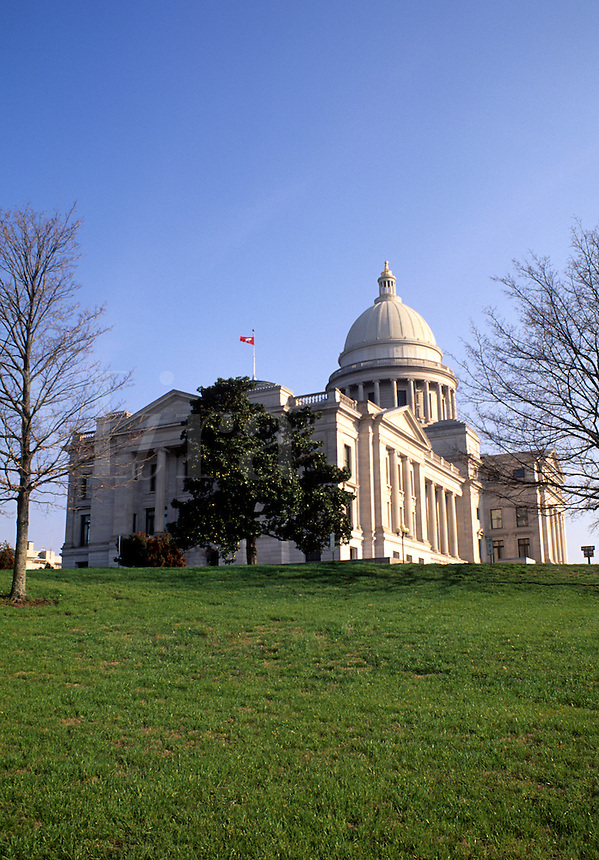 The capital building in Little Rock Arkansas, USA