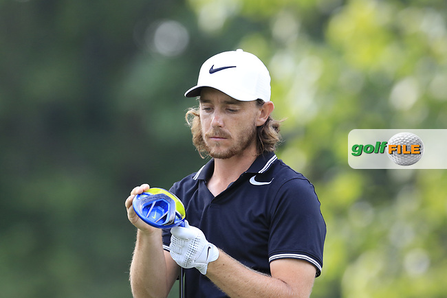 Tommy Fleetwood (ENG) prepares to tee off the 15th tee during Thursday's Round 1 of the 2017 PGA Championship held at Quail Hollow Golf Club, Charlotte, North Carolina, USA. 10th August 2017.<br /> Picture: Eoin Clarke | Golffile<br /> <br /> <br /> All photos usage must carry mandatory copyright credit (&copy; Golffile | Eoin Clarke)