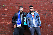 28th September 2017, Goodison Park, Liverpool, England; UEFA Europa League group stage, Everton versus Apollon Limassol;v two Apollon fans outside the ground