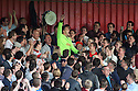 Ashley Bayes with the crowd. Mitchell Cole Benefit Match - Lamex Stadium, Stevenage - 7th May, 2013. © Kevin Coleman 2013. ..