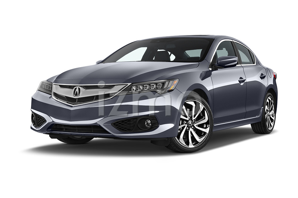Stock pictures of low aggressive front three quarter view of 2016-2017 Acura ilx Tech Plus and A Spec Package 4 Door Sedan