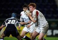 Photo: Richard Lane/Richard Lane Photography. .Scotland U20 v England U20. RBS U20 Six Nations. 07/03/2008. England's Hugo Ellis attacks.