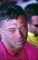 Sunny Garcia (HAW) after winning the 1994 Billabong Pro at Kirra on Queensland's Gold Coast. Photo: joliphotos.com