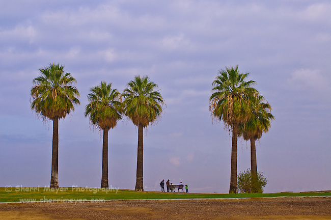 Family enjoying the panorama at Panorama Park, Bakersfield, California.