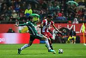 13th April 2018, Estadi Montilivi, Girona, Spain; La Liga football, Girona versus Real Betis; Antonio Barragan of Betis tackles Johan Mojica of Girona