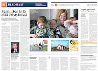Helsingin Sanomat (leading Finnish daily) on the FX-loans debtors' village of Ócsa, Hungary, November 2013<br /> Photos: Martin Fejer