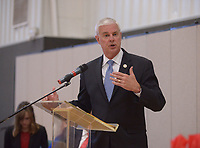 NWA Democrat-Gazette/BEN GOFF @NWABENGOFF<br /> U.S. Congressman Steve Womack speaks Friday, May 12, 2017, during the Benton County Adult Drug Court and Veterans Treatment Court graduation at Bentonville Church of Christ.