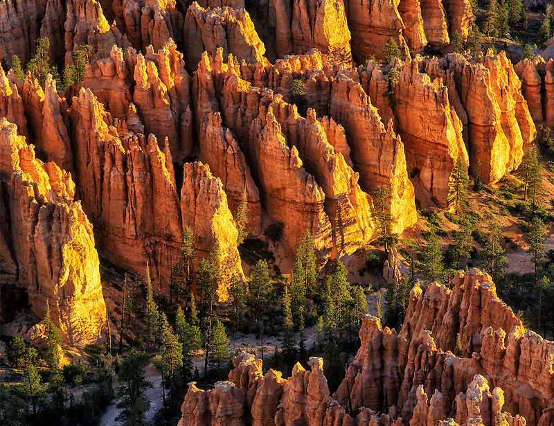 Close up view of pinnacles at Bryce Canyon National Park, UT