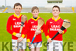Aodhan Shanahan, Robert O'Brien, Evan McCarthy, Lixnaw Boys NS Pictured at the Coiste Na Nóg Primary Schools hurling Skills finals at Austin Stack Park Tralee on Tuesday