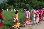 Ethnic minority children walk home from school in northern Thailand's mountainous Chiang Mai province.<br /> <br /> Because they are often unable to speak Thai, come from the poorest families and have no official citizenship papers, ethnic minority children are among the most likely not to be in school.<br /> <br /> In May 2007, Qantas staff from the Change for Good programme visited UNICEF in northern Thailand to see how money they have raised is helping children.