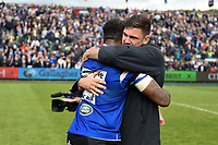 Levi Douglas and Elliott Stooke of Bath Rugby after the match. Gallagher Premiership match, between Bath Rugby and Wasps on May 5, 2019 at the Recreation Ground in Bath, England. Photo by: Patrick Khachfe / Onside Images