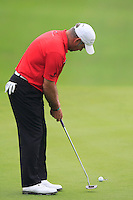 Hennie Otto (RSA) putts on the 16th green during Friday's Round 2 of the 2014 BMW Masters held at Lake Malaren, Shanghai, China 31st October 2014.<br /> Picture: Eoin Clarke www.golffile.ie
