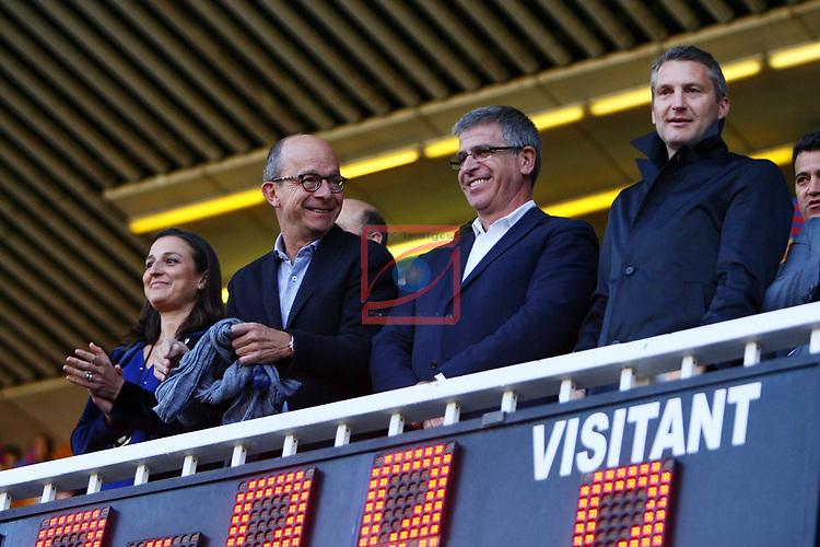 UEFA Women's Champions League 2016/2017.<br /> Semifinals.<br /> FC Barcelona vs Paris Saint Germain: 1-3.<br /> Maria Teixidor, Jordi Cardoner&amp; Jordi Mestre.