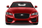 Car photography straight front view of a 2017 Jaguar XF R-Sport 4 Door Sedan Front View