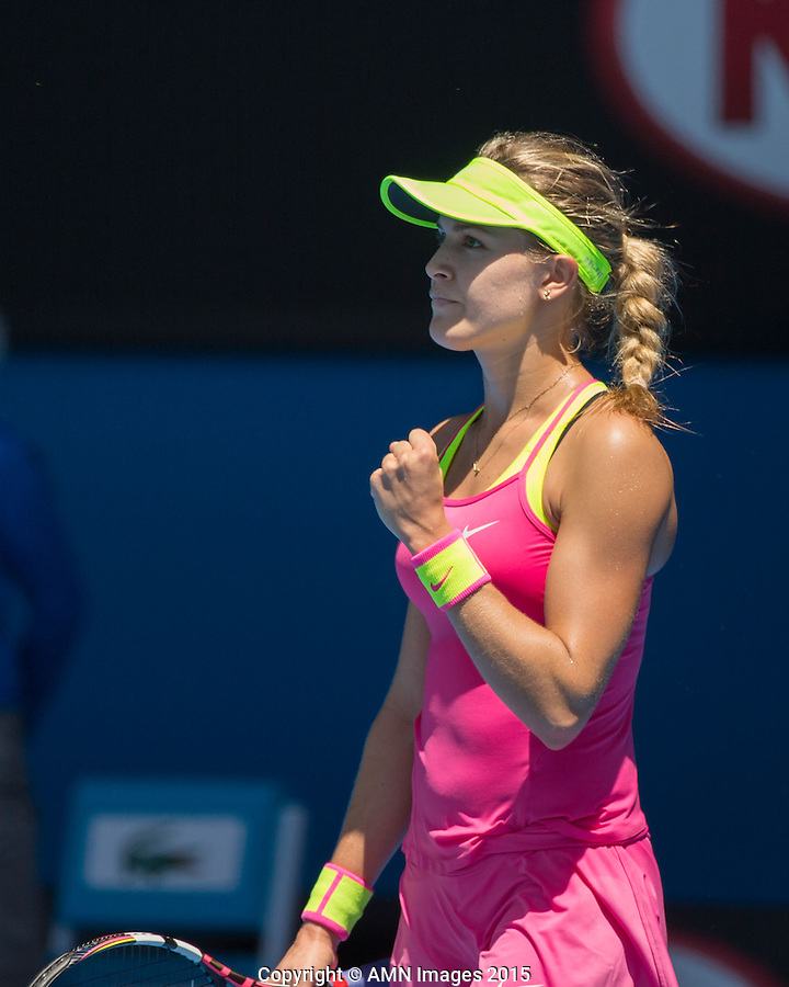 Eugenie Bouchard (CAN)<br /> <br /> Tennis - Australian Open 2015 - Grand Slam -  Melbourne Park - Melbourne - Victoria - Australia  - 23 January 2015. <br /> &copy; AMN IMAGES
