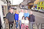 Members of Abbeyfeale Town Lights Committee, pictured last Thursday in the town was l-r: Christy Kelliher, Norette Riordan, James Lee, Thomas, Anna and Ria Mann and Steve Byrne
